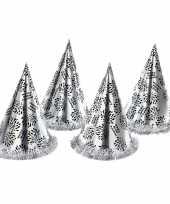 X zilveren feesthoedjes happy new year 10253898